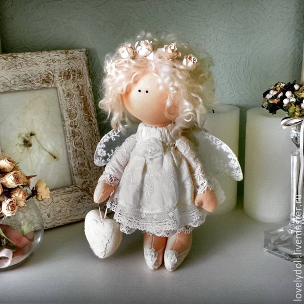 Ангелочки своими руками из текстиля