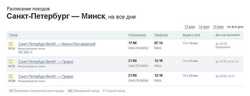 какие поезда приходят на столичный вокзал в санкт-петербурге из екатеринбурга