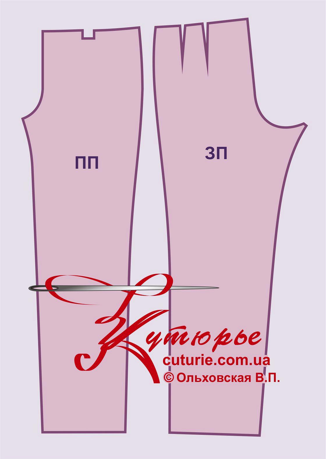 Скачать бесплатно выкройка брюк женских 48 размера