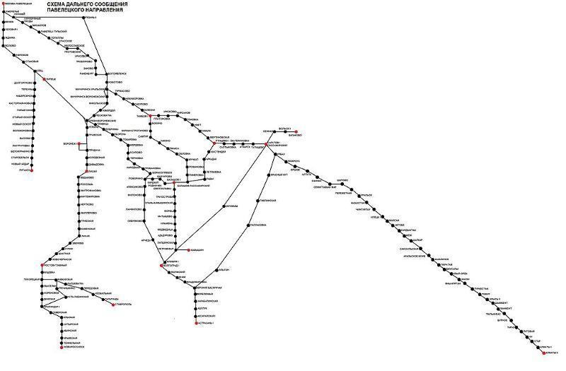 Схема движения электрички 47 км