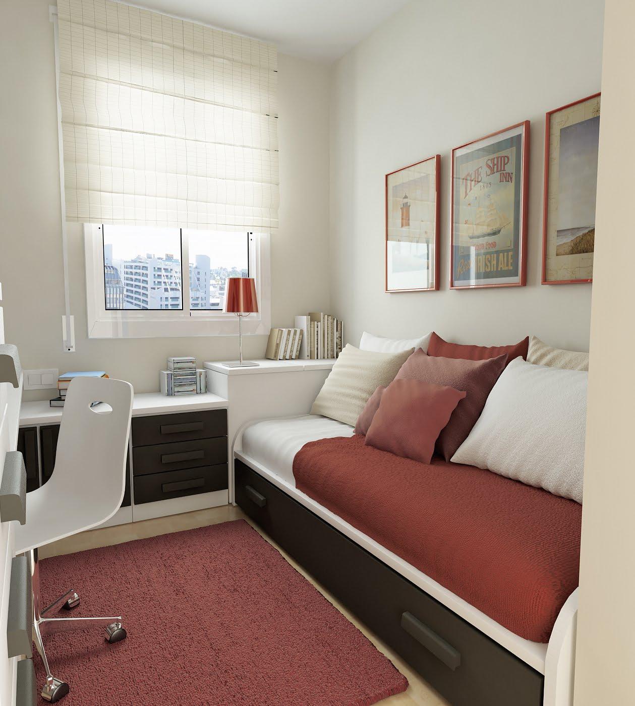 Комната узкая для девушки дизайн фото