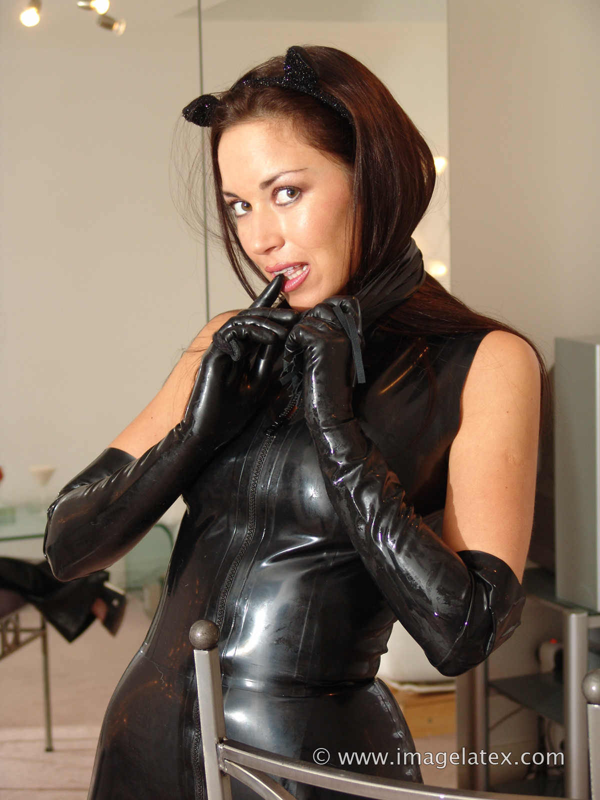 Fetish gloves sexy rubber