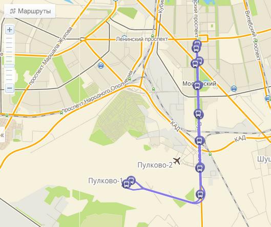 как добраться с ладожского вокзала до пулково