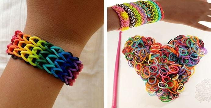 Как сделать браслет из цветных резинок без станка