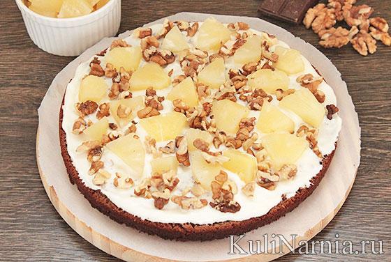 Торт панчо с ананасами пошаговый рецепт с фото со сгущенкой