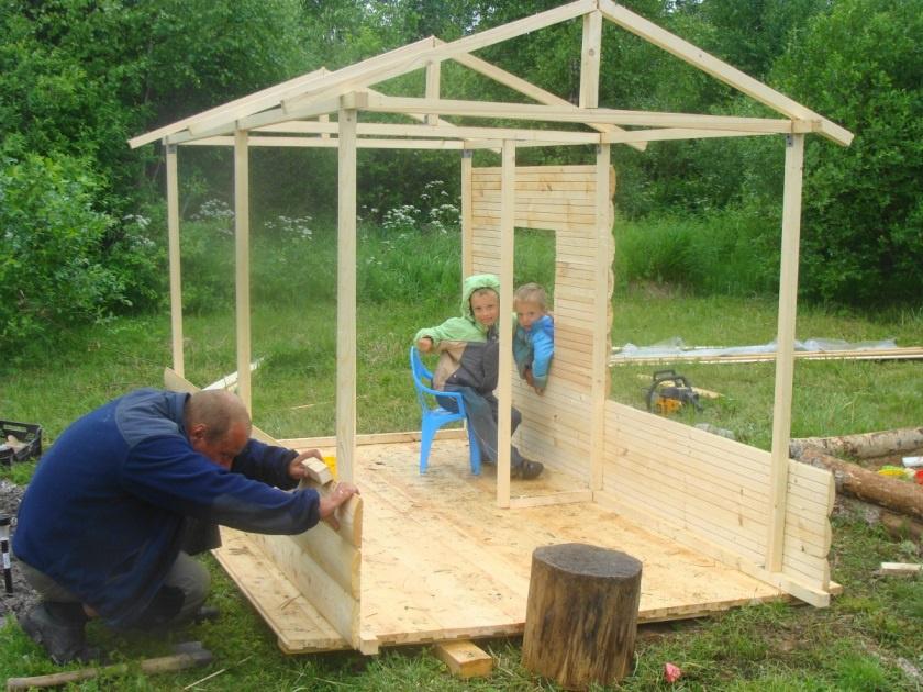 Построить игровой домик своими руками