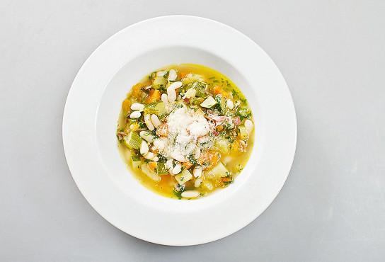 томатный суп с муссом из пармезана рецепт