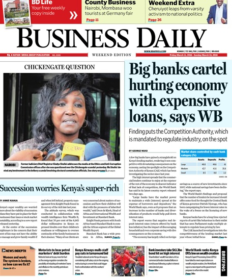 Bmo financial history kenya newspapers
