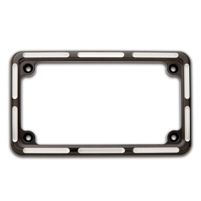 Lighted license plate frame car