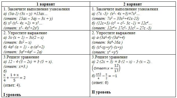 Математика решение ответы 7 класс