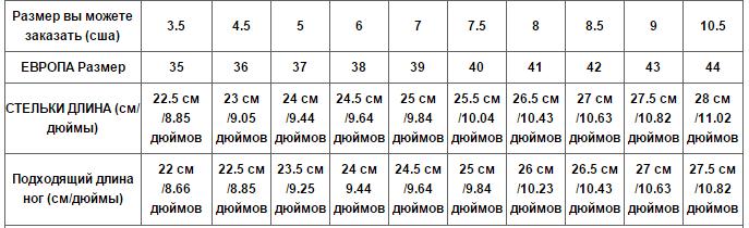 Как определить свой размер обуви женской на алиэкспресс