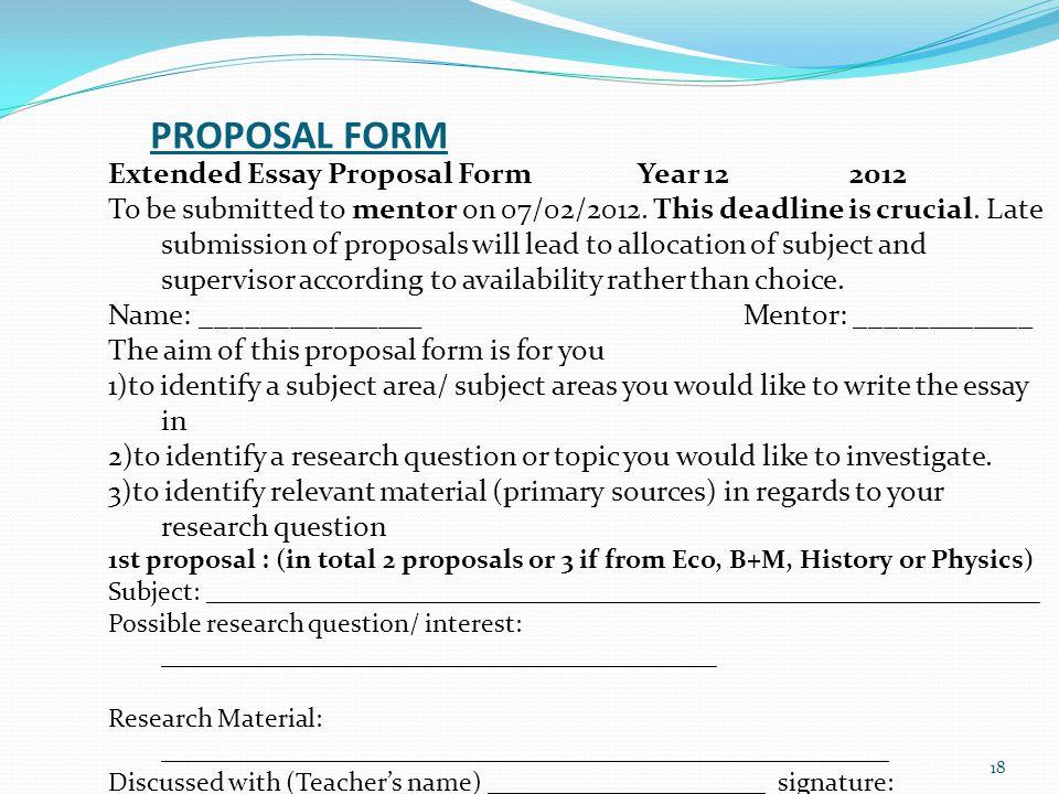 Write my proposal essay