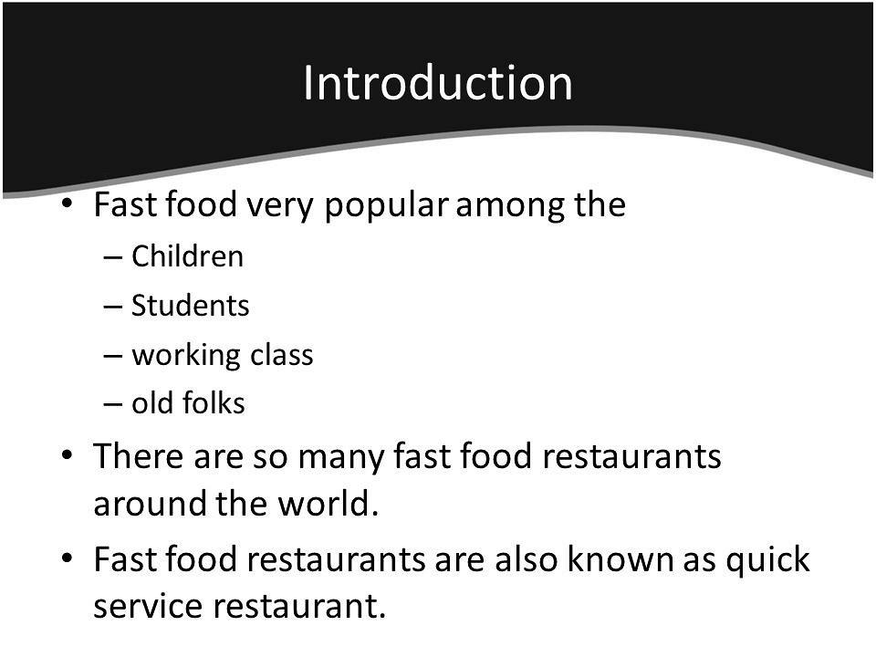 Write my fast food essay topics