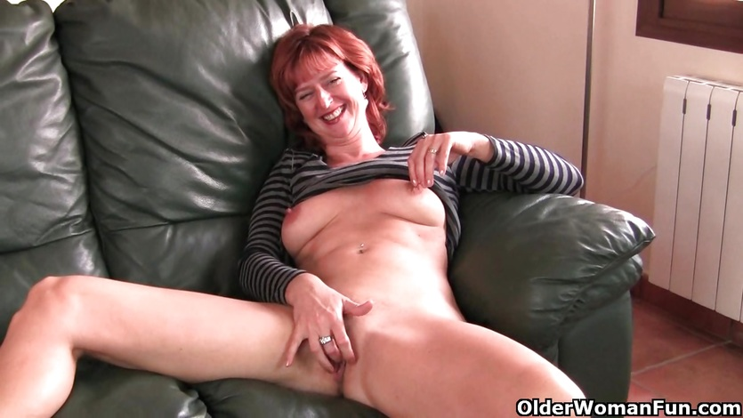 Red headed granny sexy