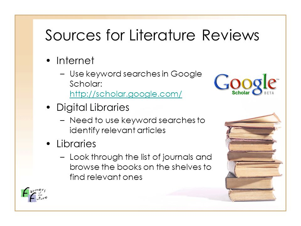 Write my importance of literature review