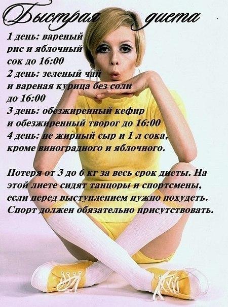 Диеты для быстрого похудения за неделю кремлевские