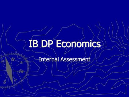 International Baccalaureate Economics - Marked by