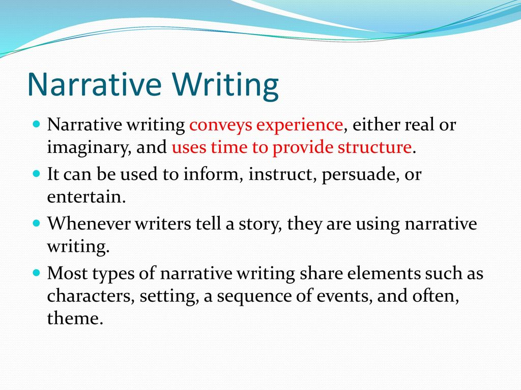 Write my narrative writing paper