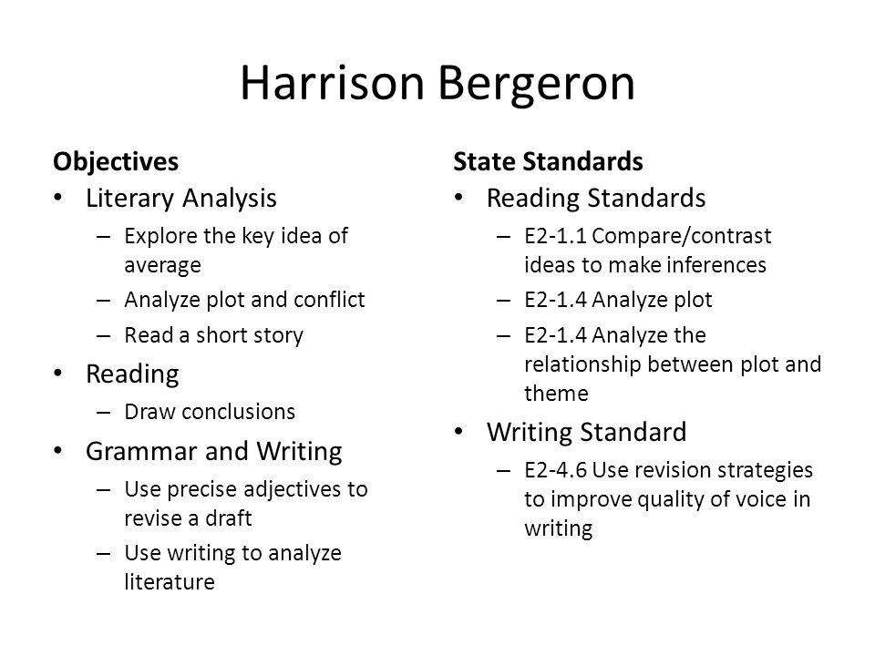 Theme Essay On Harrison Bergeron  Mistyhamel Harrison Bergeron Theme Essay Cheap Online Writing Service also Health Care Reform Essay  College Chemistry Help