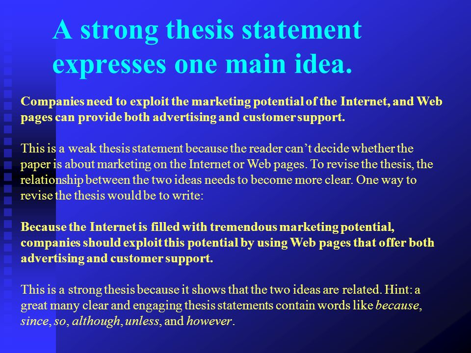Thesis statement exaples