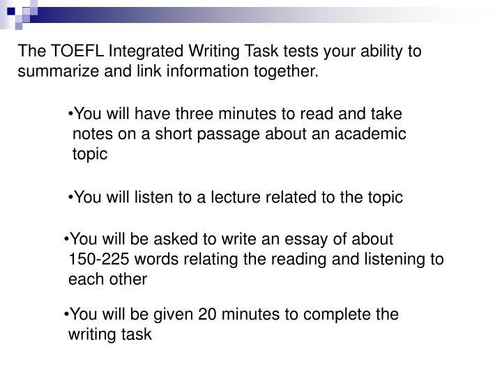 Write my essay topics toefl
