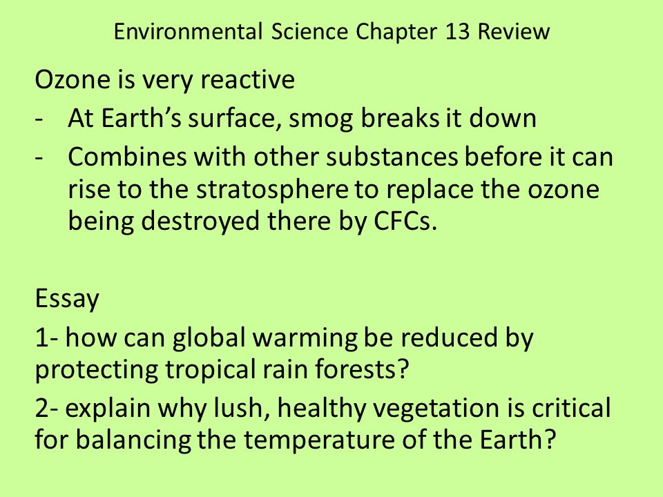 Environmental science essay