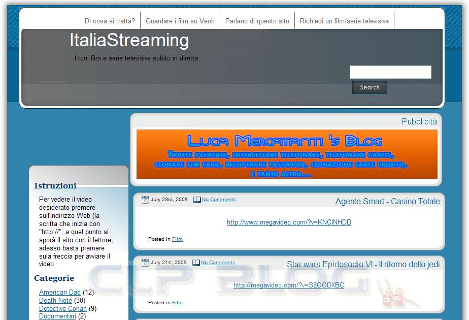 TV su PC - Italia Streaming: Streaming online con TV su
