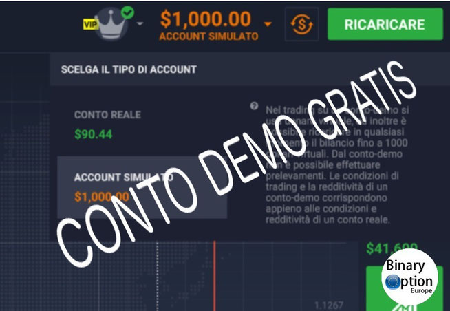binary option conto demo