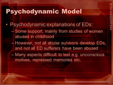 Essay on psychodynamic approach