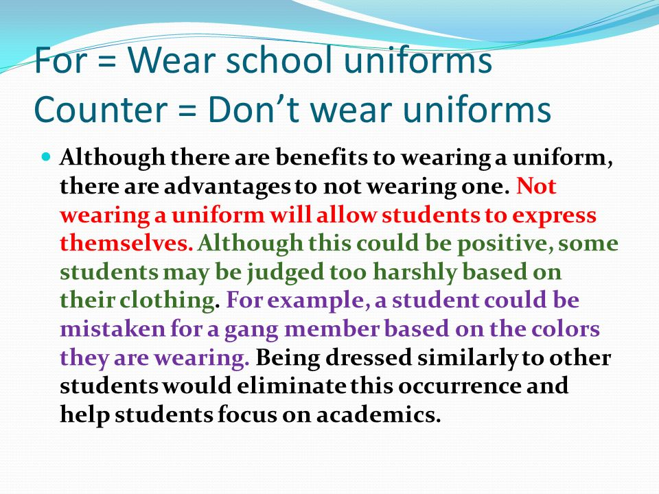 Essay: Should we have school uniforms? - Essay UK