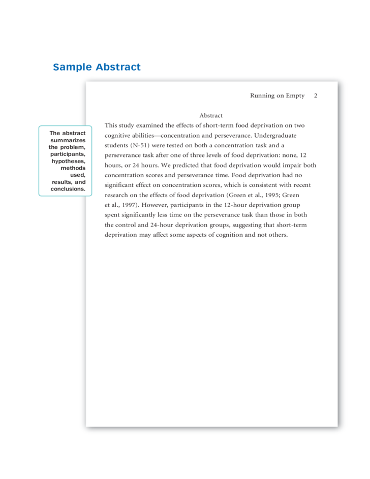 Apa essay sample format