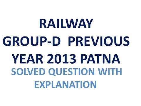 Railway group d question paper in english