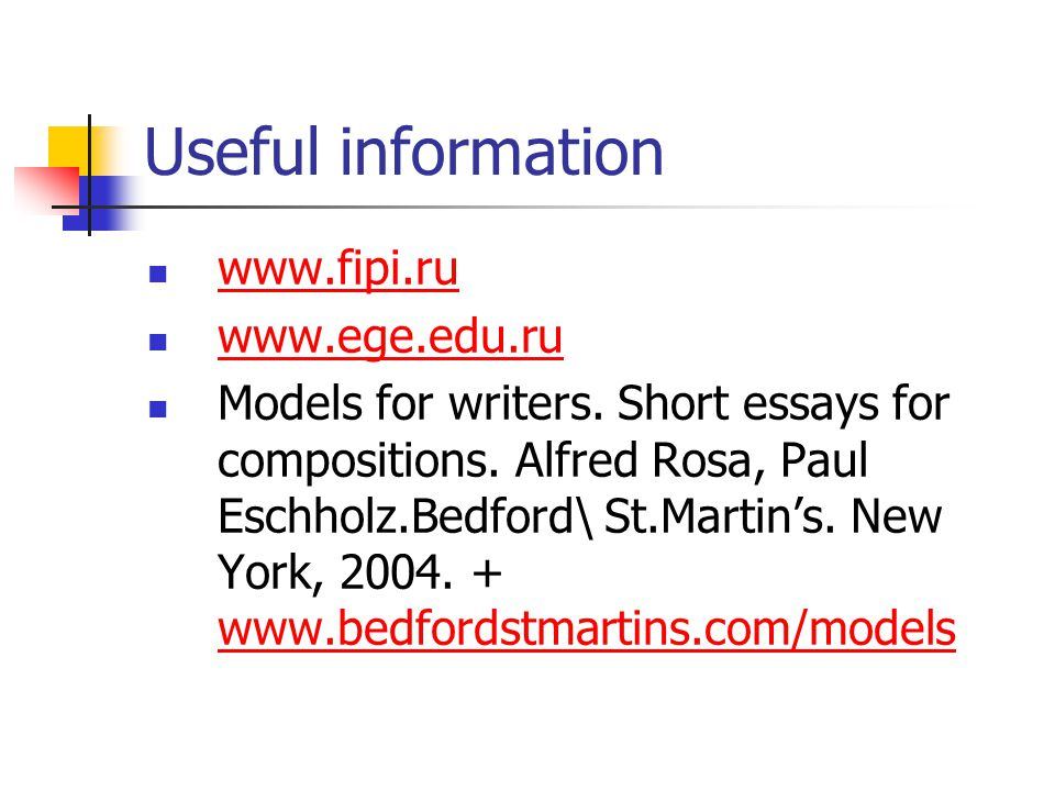 Models for writers short essays for composition pdf