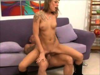Self anal sex with dildo