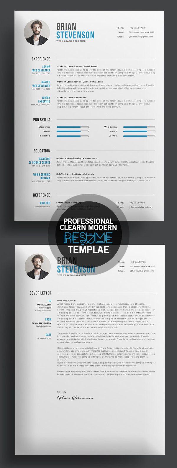Best 25+ Creative cv template ideas on Pinterest | Cv template ...