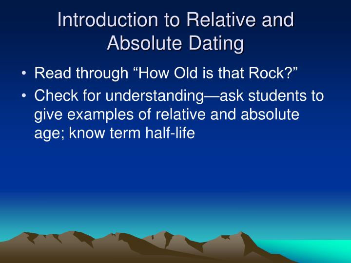 Example of absolute dating in science
