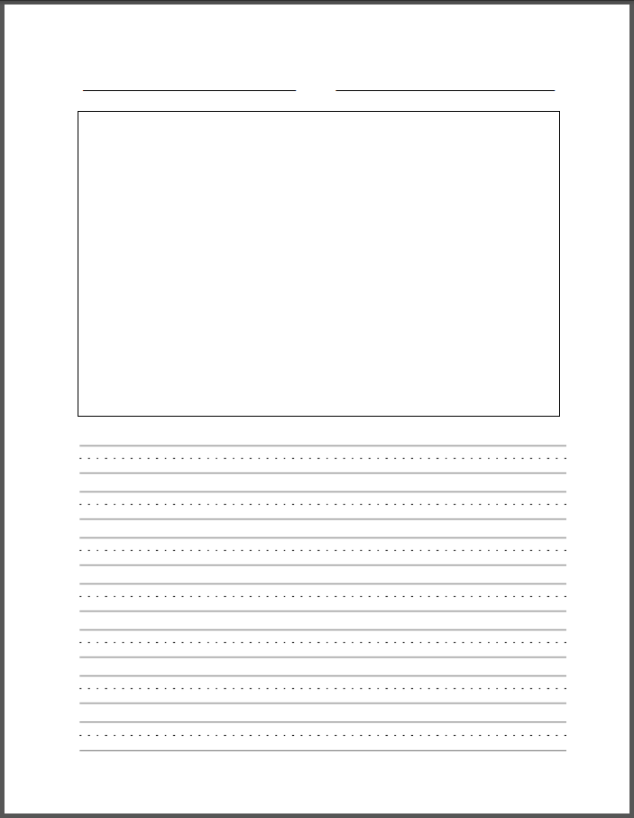 Write my elementary writing paper template