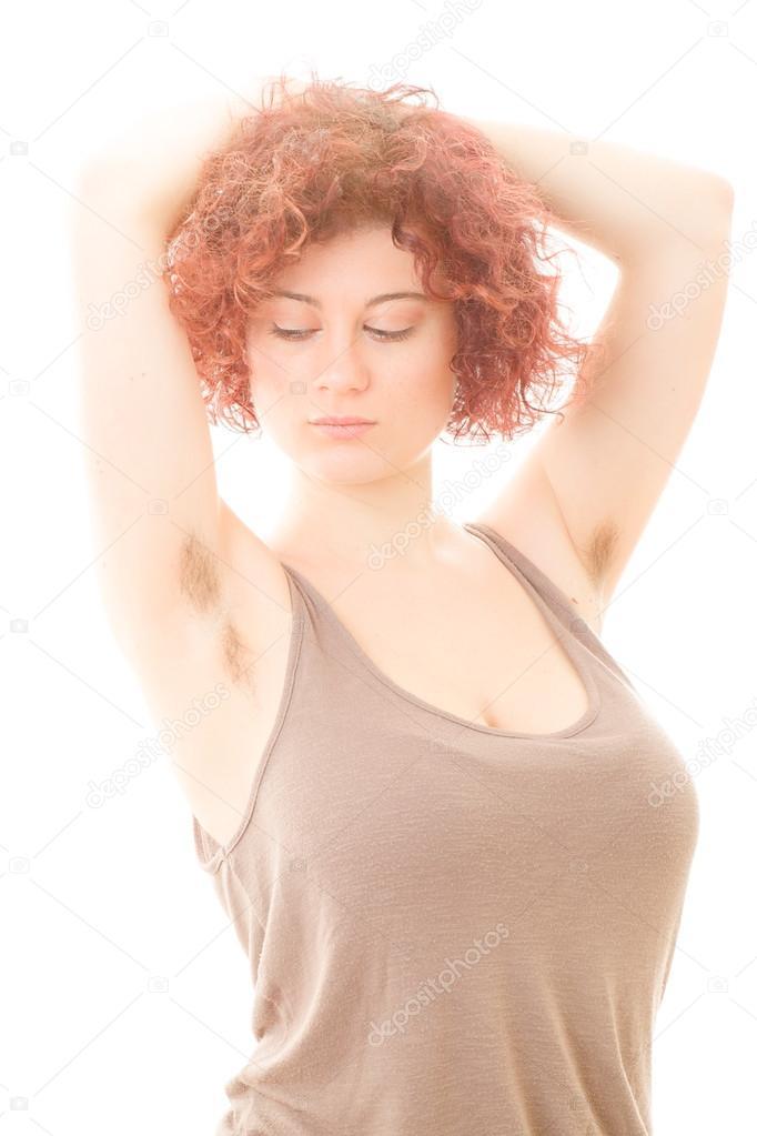 Armpit in no women hair