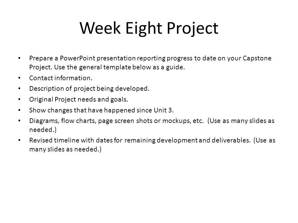 Write my capstone project sample