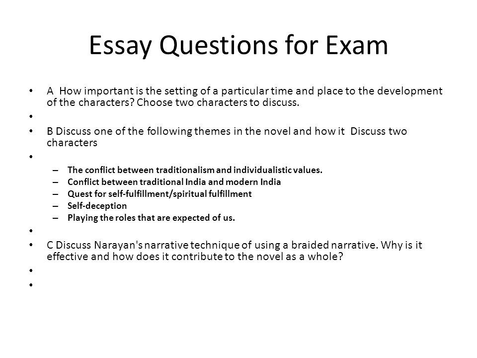 Write my essay exam questions
