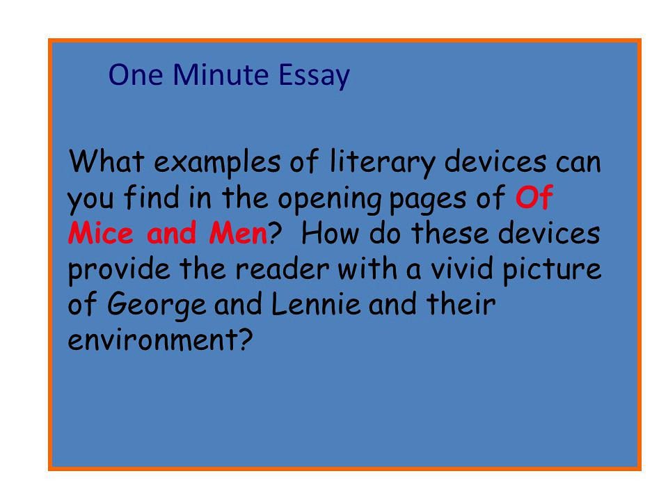 Summary Of Mice and Men - Edussoncom