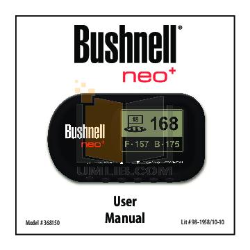 Bushnell neo user guide
