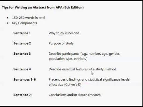 How to Write an Abstract For an Academic Paper