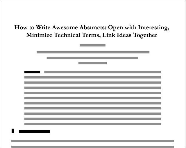 How to write an abstract for a research paper sample