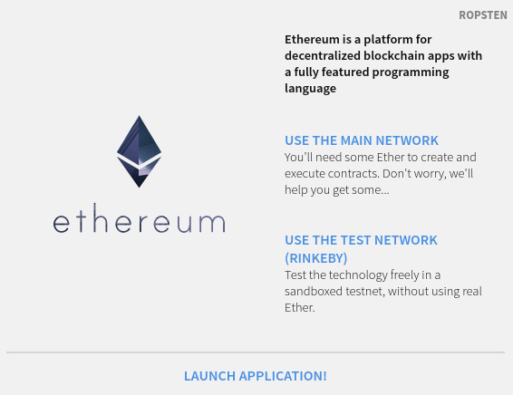 ethereum test network