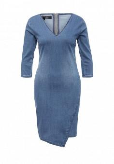 вязаное платье с глубоким вырезом с описанием