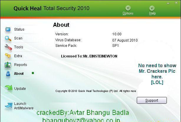 Quick Heal Total Security 1700 Lifetime Crack