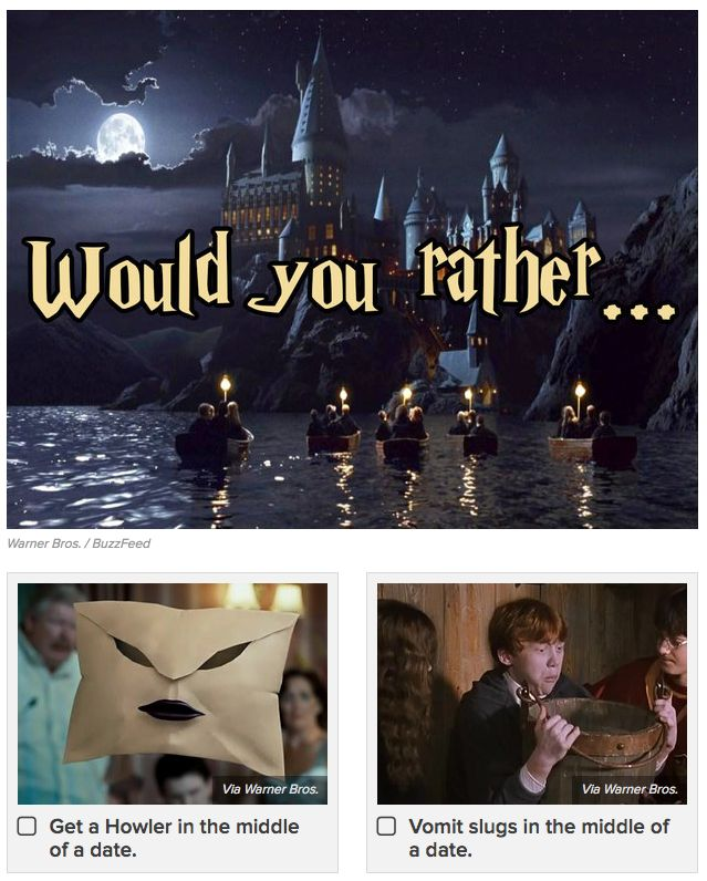 Harry potter dating quizzes