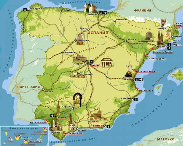 Недвижимость испании на карте испании