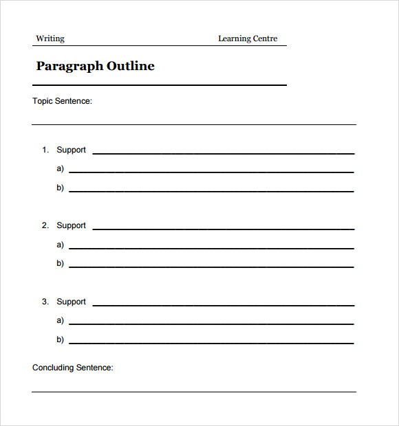 BCCC Tutoring Center Outline for a Five-Paragraph Essay
